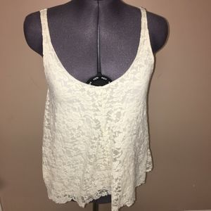American Eagle Lace overlay Tank Size XS